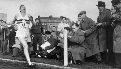 Sir Roger Bannister Breaks 4 minutes in the mile
