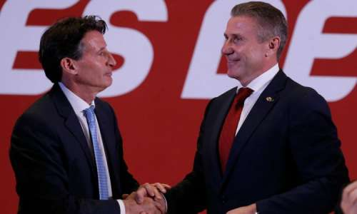 Sebastian Coe and Sergey Bubka