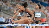 Kendra Harrison wins 100m Hurdles at Doha Diamond League with broken arm