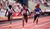 Thompson wins 100m in London in Training Shoes