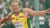 Lithuania's Gudzius takes men's discus throw gold; South Africans take 1st and 3rd in long jump